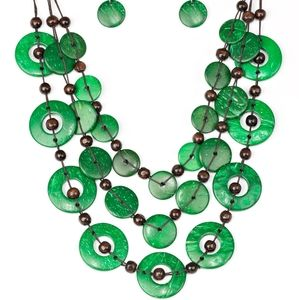 Paparazzi Catalina Coastin Green Necklace Set